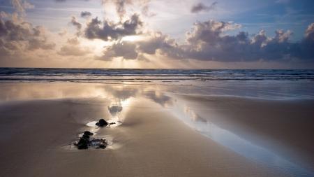 Обои Пейзаж, море, песок, берег