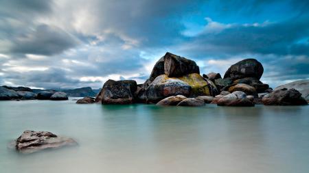 Фото Пейзаж, море, камни, скалы