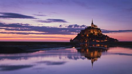 Обои Normandy, Mont Saint-Michel, гора Архангела Михаила, замок