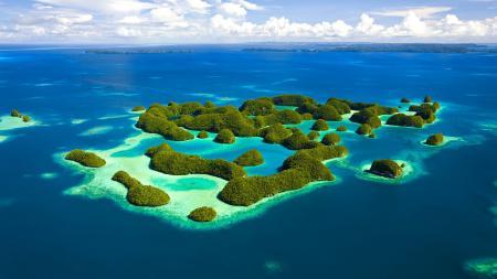 Заставки Море, океан, острова, зелень