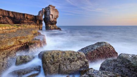 Фотографии Англия, Дорсет, море, скалы