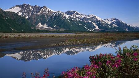 Фото Природа, пейзаж, горы, река