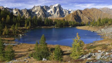 Заставки Природа, горы, озеро, лес