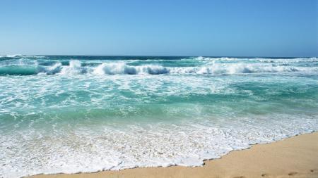 Фото море, океан, песок, небо
