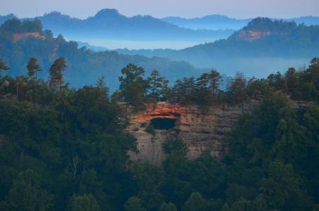 Фотографии долина, скала, туман, природа