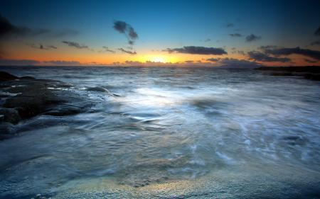 Фото закат, море, небо, пейзаж