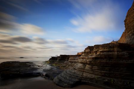 Фото скалы, море, небо, пейзаж