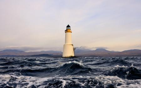 Картинки море, маяк, пейзаж