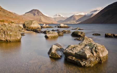 Картинки горы, озеро, камни, пейзаж