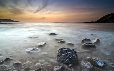 Заставки закат, море, небо, природа