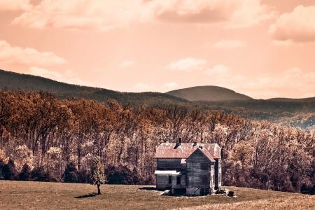 Заставки дом, горы, небо, природа