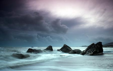 Обои море, скалы, пейзаж