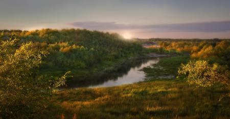 Фотографии закат, река, природа, пейзаж