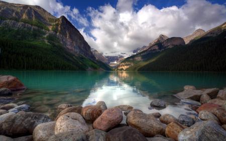 Картинки озеро, горы, камни