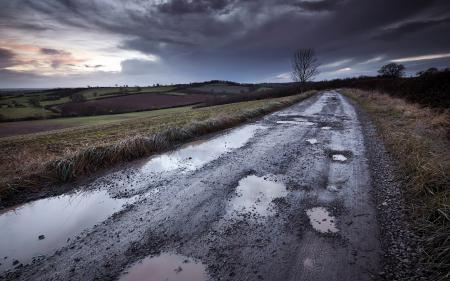 Фото дорога, вечер, пейзаж