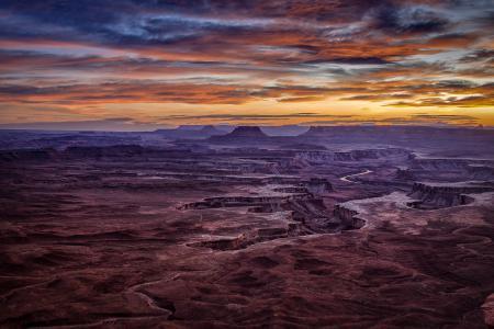 Фото каньон, сша, небо, долина