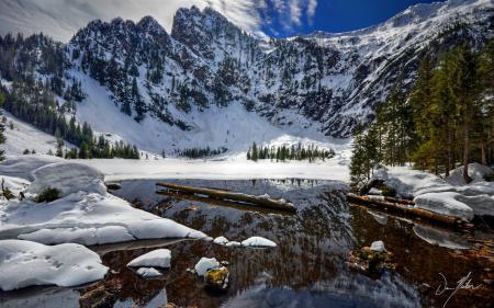 Фото река, горы, пейзаж