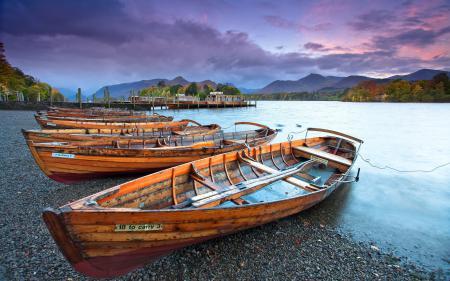 Фотографии закат, река, лодки