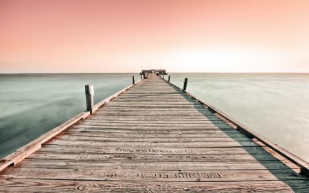 Картинки море, мост, пейзаж