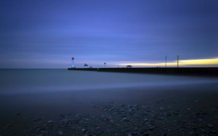 Заставки маяк, море, ночь, пейзаж