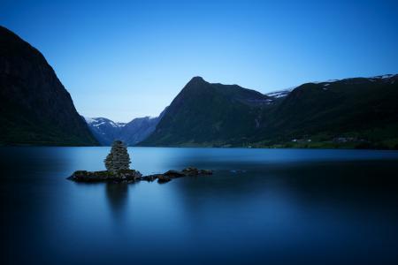 Картинки lake Jølstravatnet, Norway, озеро, горы