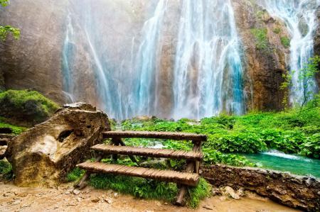 Обои Amazing Waterfall, красивейший, водопад, скалы