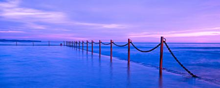Картинки море, прилив, сиреневый, закат