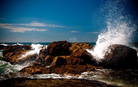 Фотографии море, волны, камни, брызги