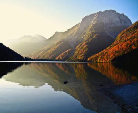Заставки горы, озеро, лес, осень