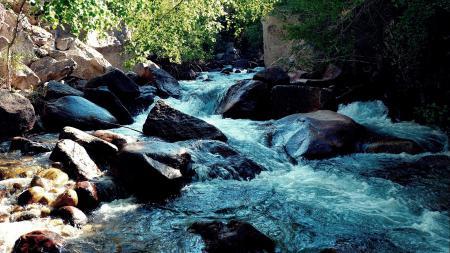 Обои пейзаж, природа, камни, горная река