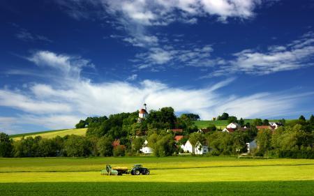 Заставки пейзажи, работа, поле, поля