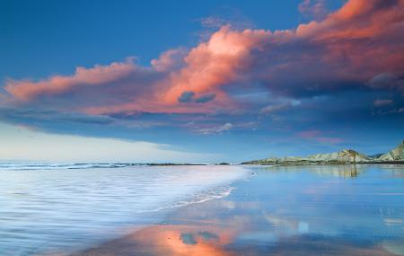 Обои небо, море, облака, скалы