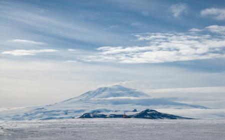 Заставки гора, снег, облака