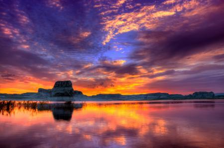 Картинки озеро Пауэлл, каньон Глен, Аризона, Юта