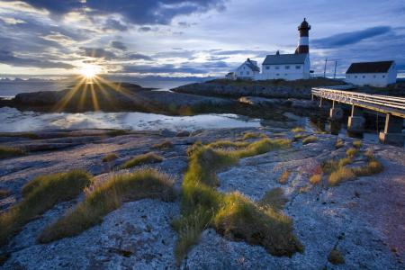 Фото пейзажи, маяк, рассвет, вода