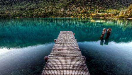 Заставки природа, озеро, гадка, мостик