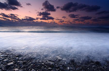 Картинки море, небо, камни, берег