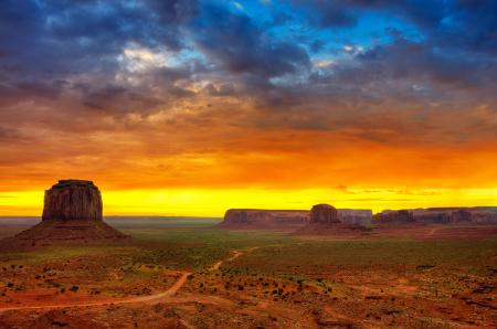 Обои долина монументов, юта, сша, пустыня