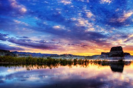 Обои озеро пауэлл, каньон глен, аризона, юта
