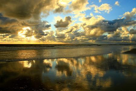 Картинки море, волны, побережье, небо