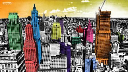 Фото город, небоскребы, нью-йорк