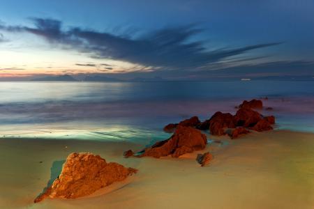 Фото небо, море, вечер, камни