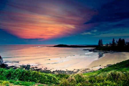 Картинки пляж, море, берег, закат