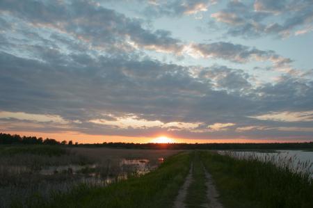 Фото Природа, пейзажи, закат, небо