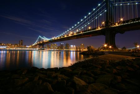 Фото Manhattan, Bridge, Night