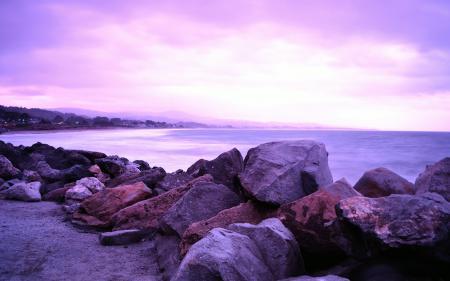Картинки природа, пейзаж, бухта, океан