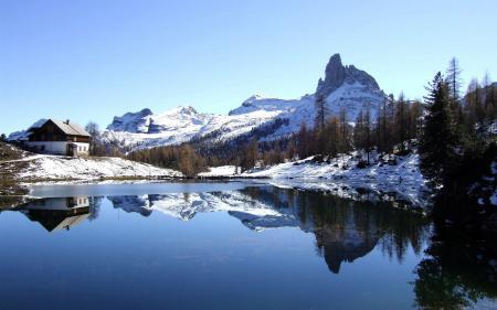 Фотографии Italy, Dolomites, Becco di Mezzodi, Lake Federa