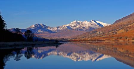 Фотографии Природа, озеро, горы, отражение