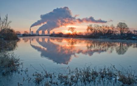 Фотографии Пейзаж, природа, озеро, завод