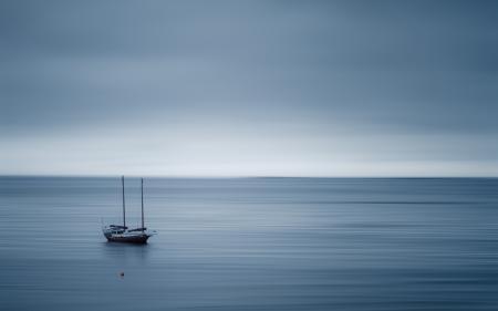Обои море, корабль, пейзаж